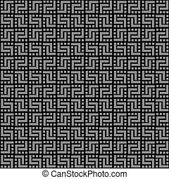 Geometric black seamless pattern