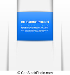 Geometric blue 3D background