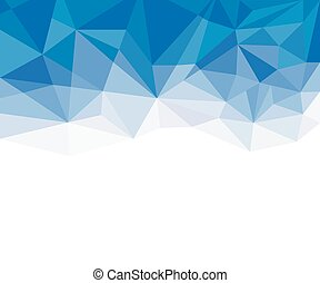 Geometric blue and White Abstract Vector Background for Use in Design.