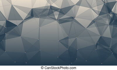 Geometric blue background in origami style with gradient. Beautiful plexus