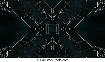 Geometric blue gray VJ loop