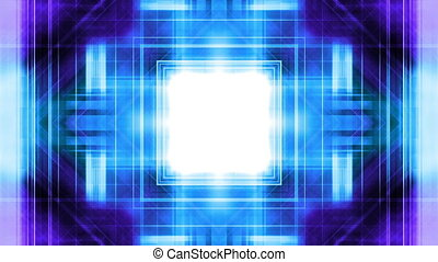 Geometric Blue Purple VJ Loop