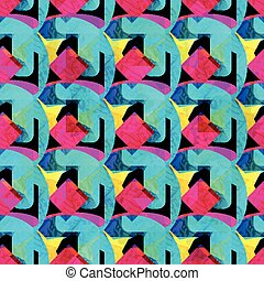 geometric bright seamless pattern for your design