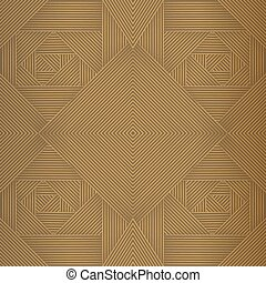 Geometric brown seamless pattern