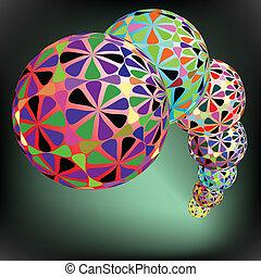 geometric bubbles pattern