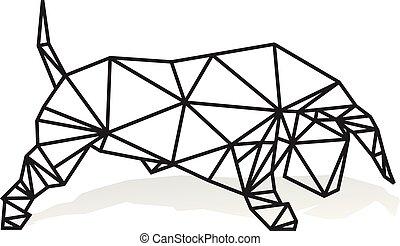 Geometric bull vector illustration