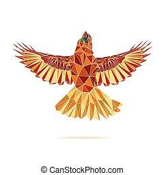 geometric cardinal flying abstract colour eps 10 vector