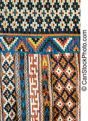 Geometric carpet detail
