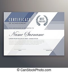 achievement award vector certificate design personal diploma and