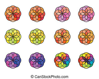 Geometric circle color