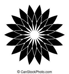 Geometric circle design element. Flower shape pattern.