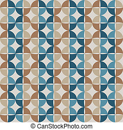 Geometric circle seamless pattern. Vector background