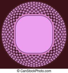 Geometric circular pattern.