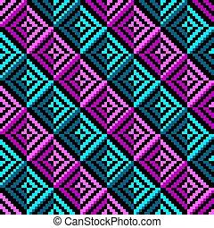 Geometric color rhombus seamless pattern. Vector ...
