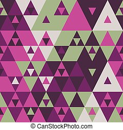 Geometric color triangles seamless pattern vector