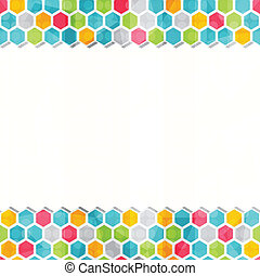 geometric colored seamless border pattern
