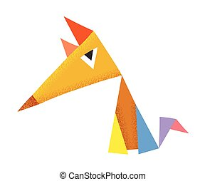 Geometric colorful fox