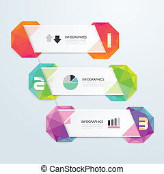 Geometric colorful Modern Design  / can be used for infographics / numbered banners