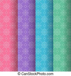Geometric colorful seamless pattern background