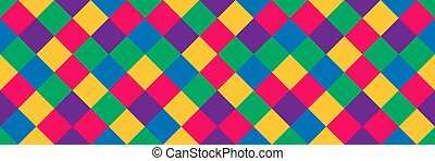 Geometric colorful vector pattern