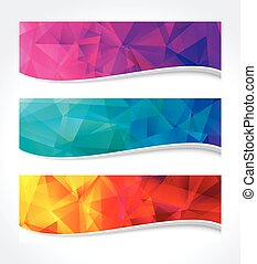 Geometric Colors Banner