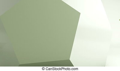 Geometric computer generated animation background, abstract ...