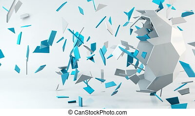 Geometric computer generated animation background, abstract...