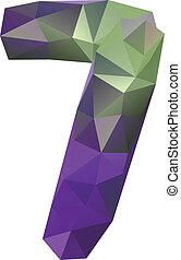 Geometric crystal digit 7