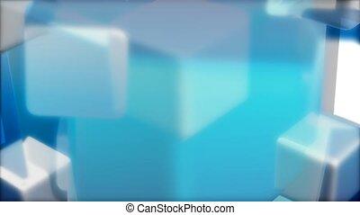 geometric, cube, revolve