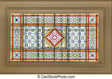 Geometric Decoration Stained Glass Window Roof