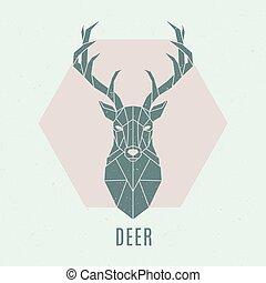 Geometric deer illustration.