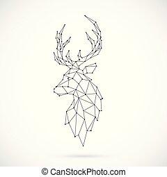 Geometric Deer silhouette.