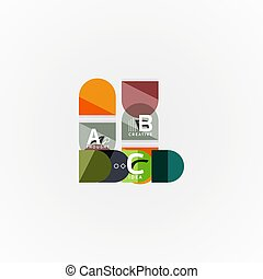 Geometric design abstract option infographics