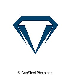 Geometric diamond logo vector template with blue color