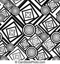 Geometricblack and white seamless background