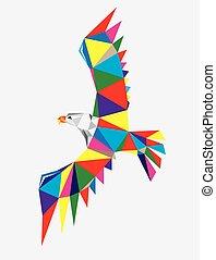 Geometric Eagle Flying
