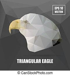 Geometric eagle on Triangle Pattern Background - Vector