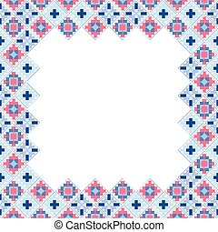 Geometric ethnic patchwork frame