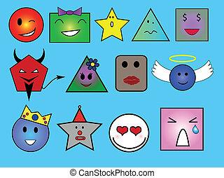 Geometric faces