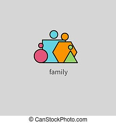 Geometric family icon