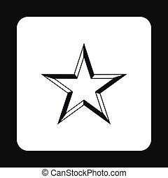 Geometric figure of celestial star icon