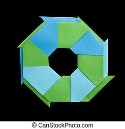 Geometric figure origami