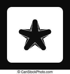 Geometric figure star icon, simple style