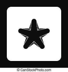 Geometric figure star icon, simple style