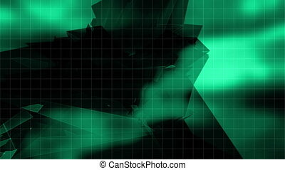 Geometric flash strobe VJ loop - Green geometric flash...