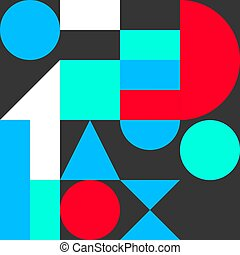 geometric flat background