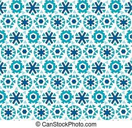 geometric flat snowflake seamless pattern vector...