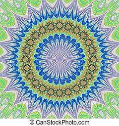 Geometric floral mandala background