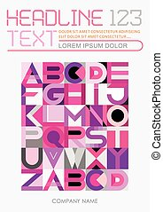 Geometric Font Design vector template
