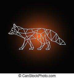 Geometric form of a fox.